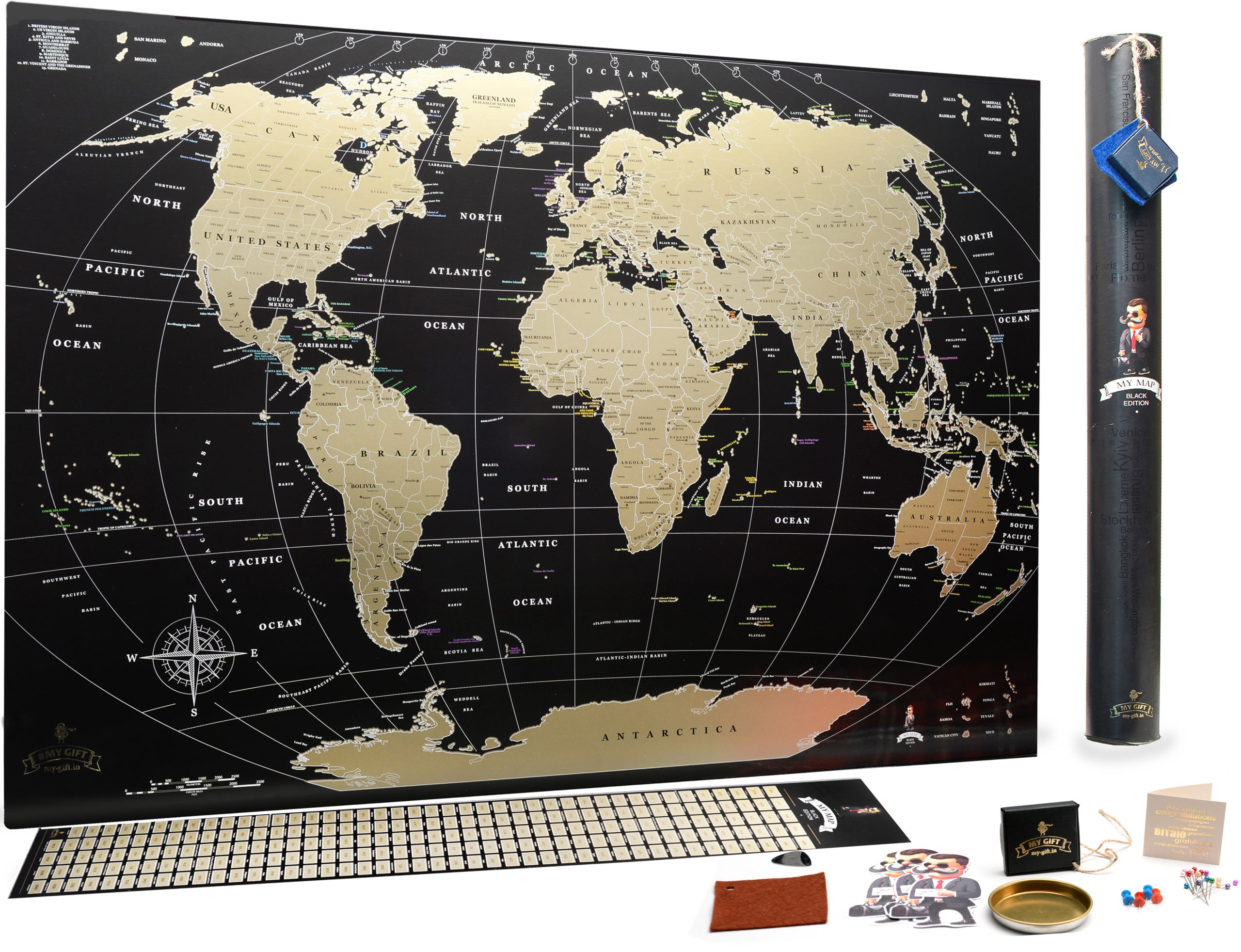 Scratch Off The map and Explore The World Scratch The World/® Childrens Activity Adventure World map Gift Tube